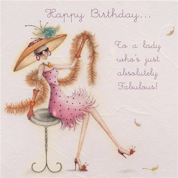 cards 187 to a lady whos absolutely fabulous 187 to a lady