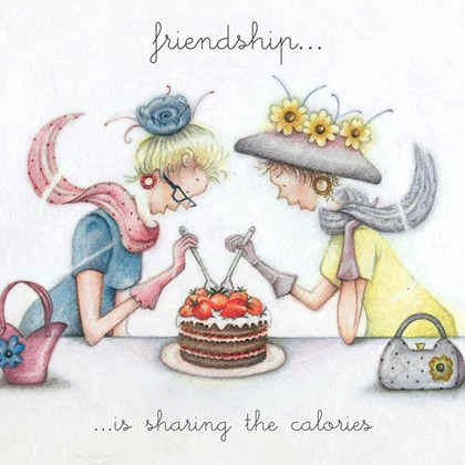 Friendship is sharing the calories