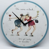 WOCC01 It's Wine O Clock - Wall Clock